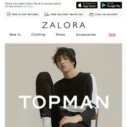 [Zalora] TOPMAN's coolest picks are your secret to stay on trend!