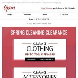 [6pm] Time for the Spring Cleaning Clearance! On now!