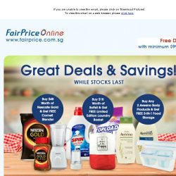 [Fairprice] Great Deals & Savings!