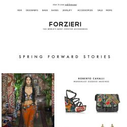 [Forzieri] Spring Forward Stories by Roberto Cavalli, Vionnet & Dsquared2