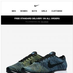 [Nike] Now Available: Flyknit Racer 'CREW BLUE'
