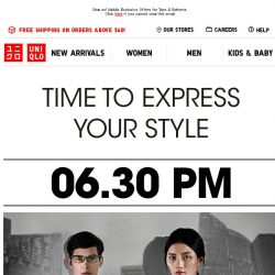 [UNIQLO Singapore] It is time to...