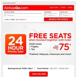 [AirAsiaGo] ⌛ YOU have been chosen for this exclusive priority deals! ⌛