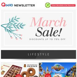 [Qoo10] MARCH SALE! Up to 70% OFF