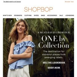 [Shopbop] What's new in our ONE by Boutique