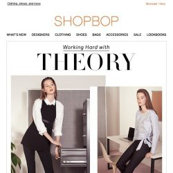[Shopbop] Theory's work-to-play staples