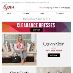 [6pm] Dresses Clearance?! Yes, please.