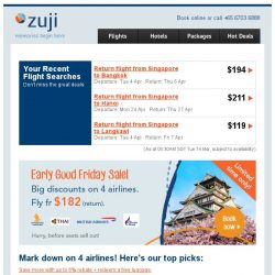 [Zuji] Starting today: Singapore Airlines & 3 other airlines on sale!