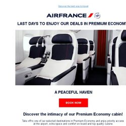 [AIRFRANCE] Hurry, Premium Economy deals are still on!