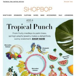 [Shopbop] Tropical jewelry delights