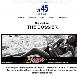 [Triumph] The Dossier: Turn the heat up at your next beach retreat.