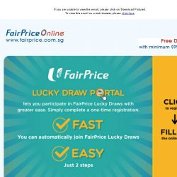 [Fairprice] Register for an eLucky Draw account with us today!
