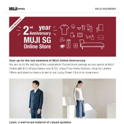 [Muji] Catch your last 3 days of Online Anniversary Special!