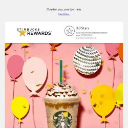[Starbucks] Get one and enjoy another on us