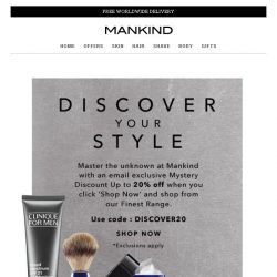 [Mankind] Discover Your Style... Mystery discount