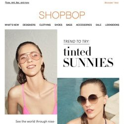 [Shopbop] Rose-colored (sun)glasses (and lots more colors!)