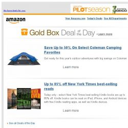 [Amazon] Save Up to 50% On Select Coleman Camping Favorites