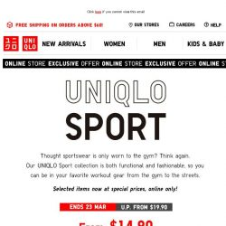 [UNIQLO Singapore] From the gym to the streets.