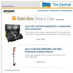 [Amazon] Up to 30% off select gaming PCs, components, an...
