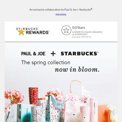 [Starbucks] Paul & Joe + Starbucks Collection – Launching on 21 Mar