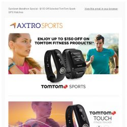 [AXTRO Sports] 🏃🏃 Sundown Marathon Special - $150 Off Selected TomTom Spark GPS Watches