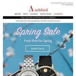 [Ashford] Great Deals In Our Spring Sale