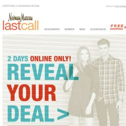 [Last Call] SURPRISE! Reveal your deal & save on ENTIRE PURCHASE