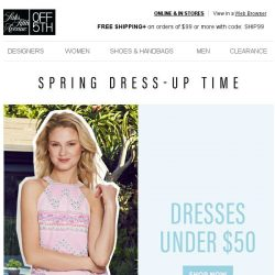 [Saks OFF 5th] This you HAVE to see: DRESSES under $50!