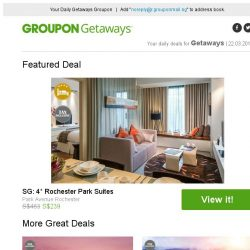 [Groupon] SG: 4* Rochester Park Suites / Bangkok: SIA Return Flights / Hong Kong: SIA Return Flights / Krabi: 4* Boutique Hotel Stay