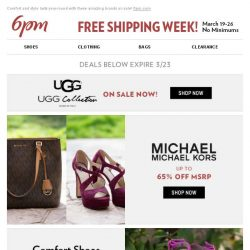 [6pm] Spring for comfort from UGG and more on sale!