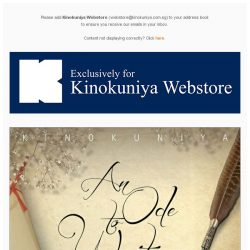 [Books Kinokuniya]  An Ode to Writing – 10% off Kinokuniya Webstorewide + Free Delivery for All Customers from 23rd to 26th March 2017 (Thu to Sun)