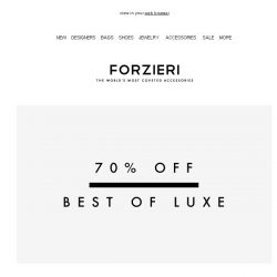 [Forzieri] 70% off Kenzo, Chloé, Pierre Hardy and More