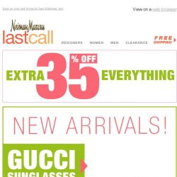 [Last Call] NEW ARRIVALS: Gucci sunglasses extra 35% off + more faves
