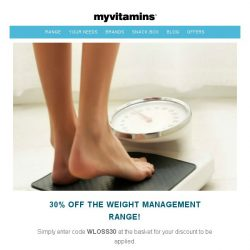 [MyVitamins] 30% off Weight Management Range!