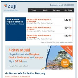 [Zuji] Osaka, Melbourne & more on sale fr $134!