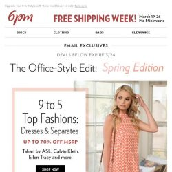 [6pm] Office styles for spring (on sale)!