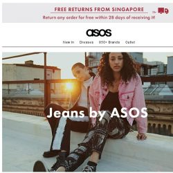 [ASOS] New-season jeans – show yourselves