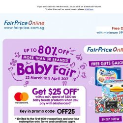 [Fairprice] Up to 80% OFF this Baby Fair!