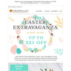 [FarEastFlora] Up to 22% off while you shop our specially-curated Easter Collection!