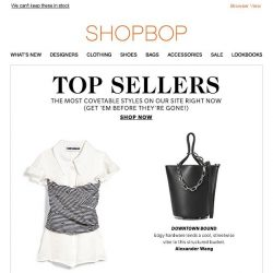 [Shopbop] These top sellers are going fast