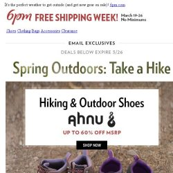 [6pm] New gear for your next hike!