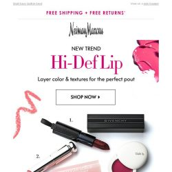 [Neiman Marcus] Get High-Def Lips | Givenchy, Tom Ford, lilah b.