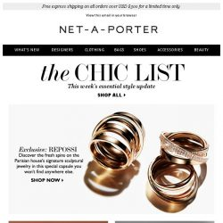 [NET-A-PORTER] Exclusive: meet our Repossi capsule, plus how to build the perfect closet