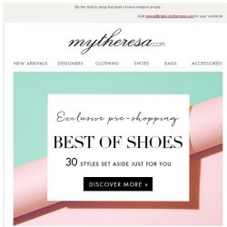 [mytheresa] Exclusive pre-shopping: best of shoes