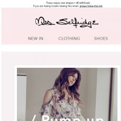 [Miss Selfridge] Pump up the volume!