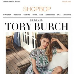 [Shopbop] We're jet-setting with Tory Burch