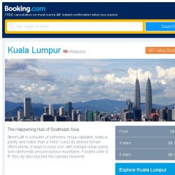 [Booking.com] Prices in Kuala Lumpur are the lowest we've seen in 40 days!