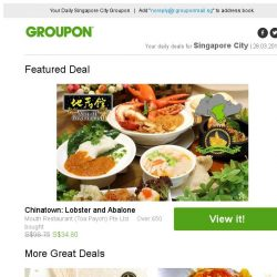 [Groupon] Mouth Restaurant: Abalone & Lobster Set / 2 Outlets: Mani-Pedi Services at Dollhouse Nails