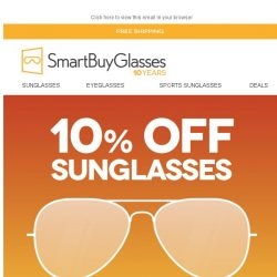 [SmartBuyGlasses] 10% OFF Sunglasses, 24 hours only. Catch me if you can ✈️️