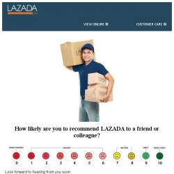 [Lazada] Dear , are you satisfied with Lazada? It will mean a lot to hear your opinion.
